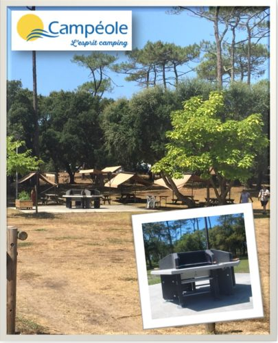 Camping ondres plage barbecue collectif